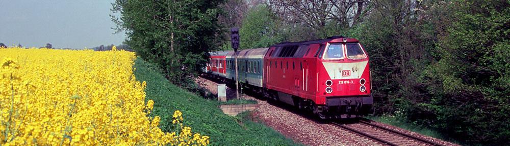 Die Eisenbahn um Nossen in Sachsen